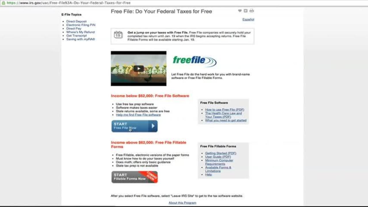 IRS Provides Free File Software For Tax Season