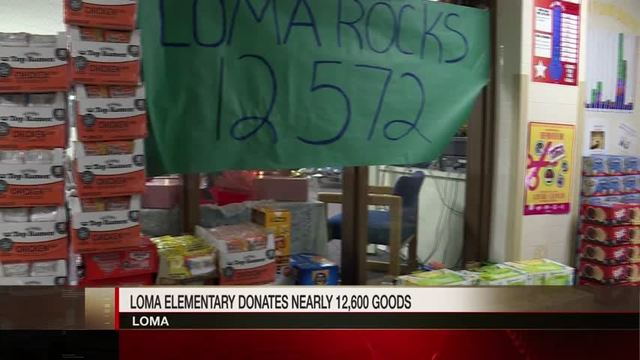 Loma Elementary Students Donate Nearly 12,600 Pounds of Food