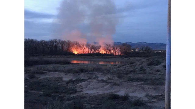 Fire Crews Continue To Battle Blaze in Horsethief Canyon