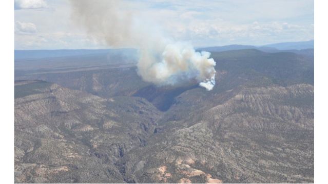 BLM Monitoring Fire NE of Montrose