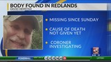 Missing Man Found Dead In The Redlands